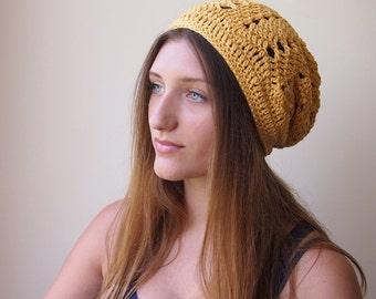 PDF crochet slouchy hat pattern,  slouchy chevron hat, woman ripples hat, zig zag hat, DIY tutorial, beach dance summer