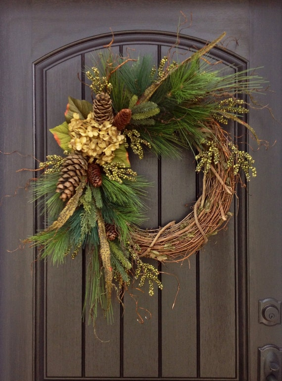 Christmas Wreath Twig Winter Wreath Holiday Grapevine