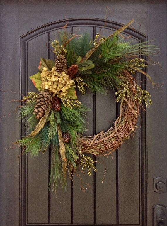 Christmas Wreath Twig Winter Wreath Holiday Wreath Grapevine
