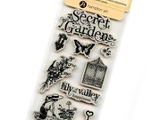 Cling Mounted Rubber Stamps from Graphic 45 - Secret Garden 1