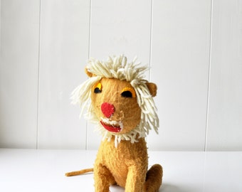 Vintage Stuffed Lion Toy