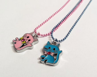 Sale! bow kitty cat Necklace