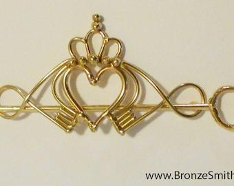 Bronze Claddagh Barrette