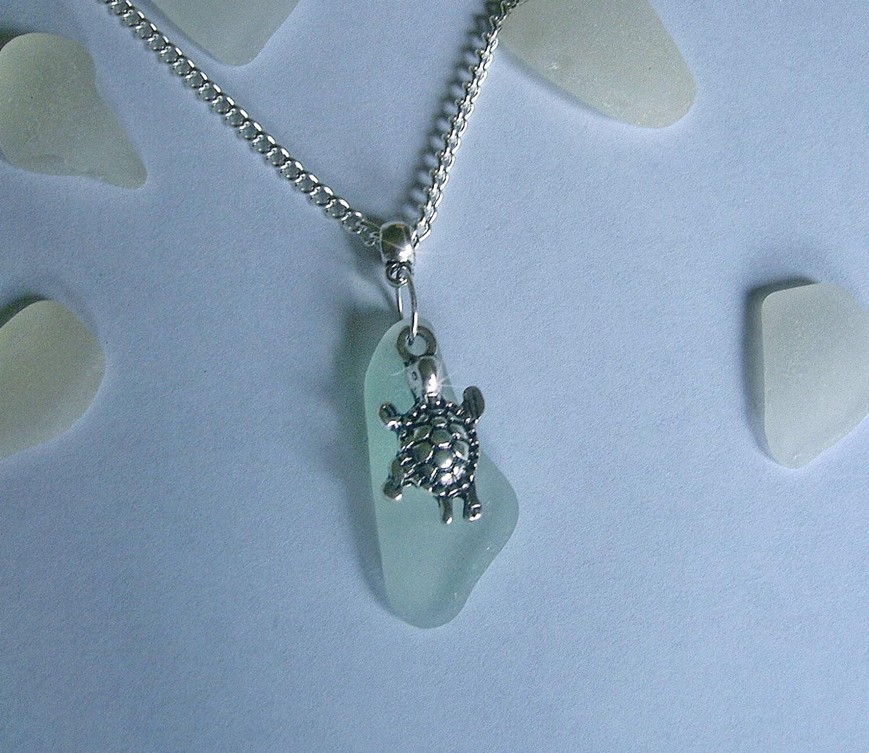 glass jewelry sea turtle necklace sea glass jewelry
