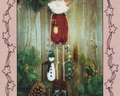 Decorative Santa Pattern Hanging Around with Santa 22 Inch Santa with 6 Inch Ornaments by Sweet Dreams UnCut