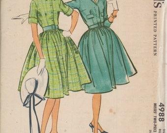 Bust 36-1959 Misses' Dress McCall's 4988 Sz 16