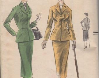 Bust 34-1951 Misses' Suit Vogue 7292 Size 16 Hip 37