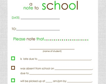FREE SHIPPING - Non Personalized School Notes