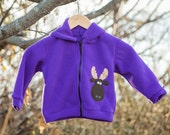 Children's Moose Jacket Purple Fleece