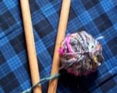 Extra Large Handmade Oak Knitting Needles - Size 50