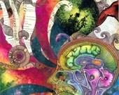 We Are Powerful Creators- Watercolor/mixed media/pen & ink
