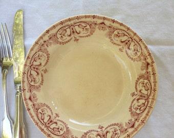 French vintage ironstone deep dish