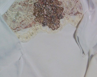 Girls Ivory Lace Layette gown sleeper Take me Home for baby girl Newborn thru 3 months