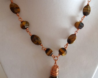 Tiger Eye Necklace and Pendant