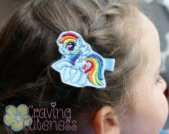 Rainbow Dash Hair Clip - My Little Pony Inspired