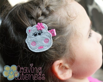 Adorable Hippo Hair Clip - Meet Miss Hazel