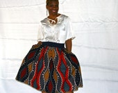Pleated African Inspired Skirt