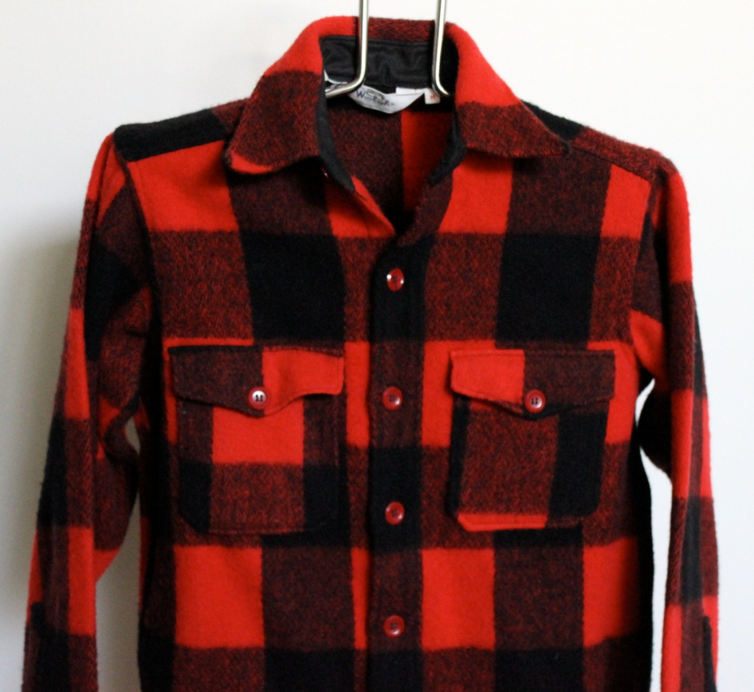 Woolrich Buffalo Plaid Flannel Shirt Jacket Mens Medium