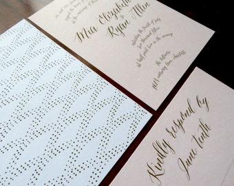 Pink Wedding Invitation Suite (Set of 25) | Wedding Set, Pink and Gold, Pink Wedding, Invitation Set