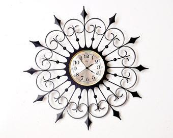 Mid-Century Welby Sunburst Wall Clock