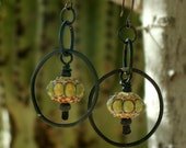 Earrings, Lampwork Glass Beads