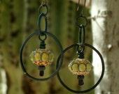 Earrings, Lampwork Glass Beads