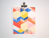 Original Geometric Print on Heavyweight Paper 8 x 10