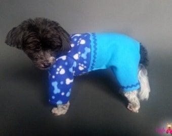 Dog Pajamas, Shirt & Pants Style Dog PJ's, Blue Dog Sweater