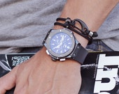 Paracord bracelet - Parachute cord bracelet for men - Jewelry for Men - Black bracelet - Military inspired