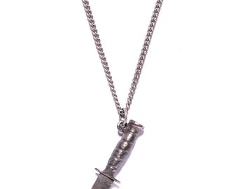 Men's jewelry - Men's necklace - Knife pendant necklace - Silver Knife necklace - Blade necklace for men - Gift for Men - Gifts for him
