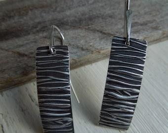 Into the Woods - OOAK Earrings Sterling Silver