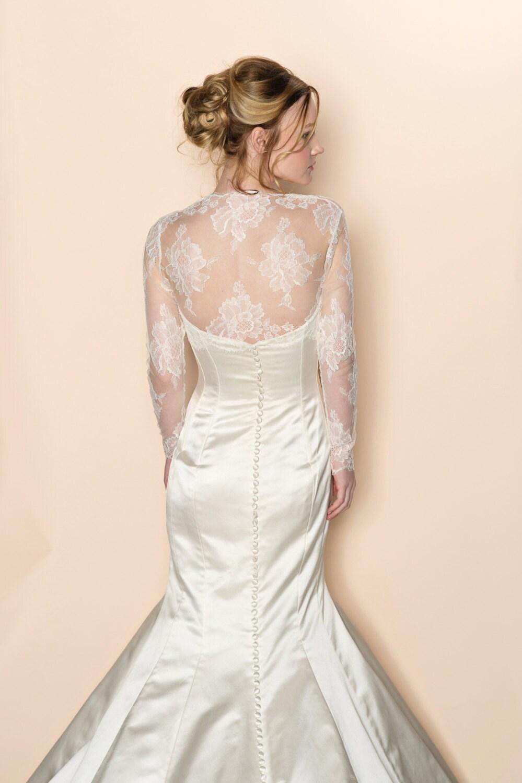 Roseline Bridal French Lace Sheer Tulle Bolero Cover Up Shrug
