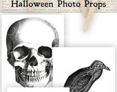 Halloween Photo Props printable photo props images instant download digital collage sheet VDMIHA0875