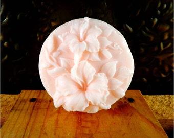 Flower Soap: Hello Hibiscus Floral Guest Soap, You Choose Color & Scent