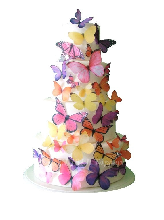 Butterfly Cake Decoration Uk : BUTTERFLY CAKE Birthday Cake Topper The Audrey 30 Edible
