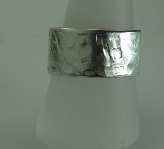 thick silver ring mens wedding band chunky silver by