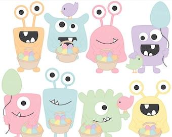 easter clipart clip art digital monsters aliens - Easter Monsters Clipart