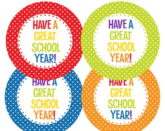 school printable tags - Have A Great School Year Tags Printable