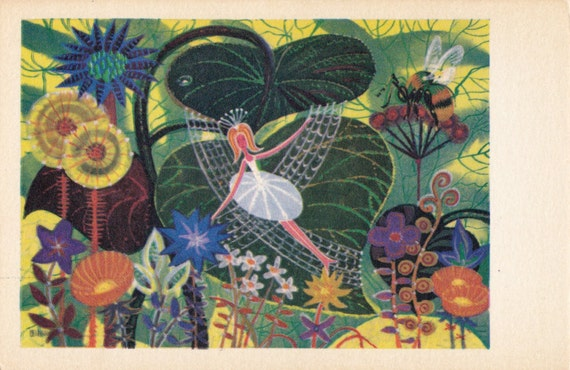 Thumbelina Hans Christian Andersen. Drawing by Ivanin