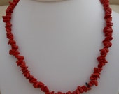 Red Stone Chip Necklace