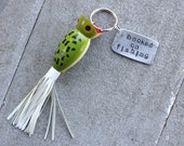 For Meg: Hand-stamped Fishing Lure Keychain