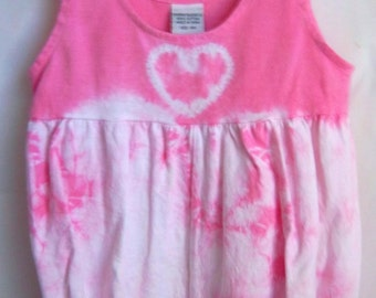 Pink Heart Baby Bubble Romper