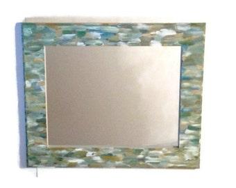 Beach Themed Bathroom Mirror Shabby Chic Hand Painted Ornate Hanging