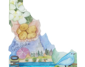 Idaho, the Gem State, Art Print