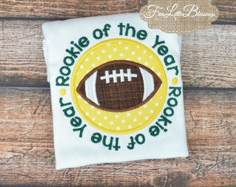 Rookie of the year - football - packers - vikings - fantasy draft - I watch football with daddy - baby shower gift -
