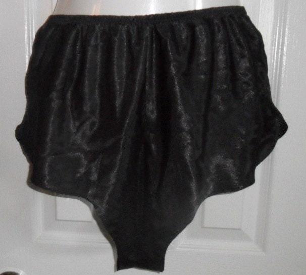 Usps Return Label >> Vintage Tap Pants Black Satin Pettipants Panties Knickers