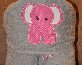 Kids Hooded Towel Elephant