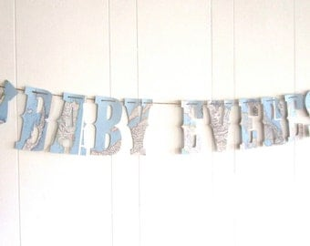 Baby Banner, Travel Theme,Map Banner, Baby Shower, Map Theme, Gender Reveal, Nursery Banner, Vintage Maps, Custom Sizes and Maps