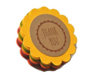 25 favor thank you gift tags. Thanksgiving fall autumn mix. primitive. woodland. rustic . wedding . card making supply. scrapbooking