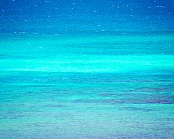 Turquoise Sea Photography | Beach Art Print | Blue Ocean Waves | Nautical Wall Art Print | Beach Home Decor | Turquoise Beach House Decor